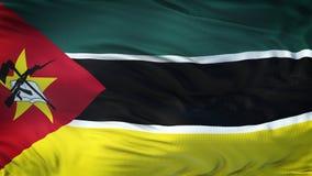 Fond de ondulation réaliste de drapeau de la MOZAMBIQUE Photographie stock libre de droits