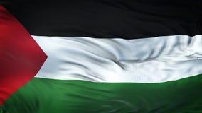 Fond de ondulation réaliste de drapeau de la PALESTINE Photos libres de droits