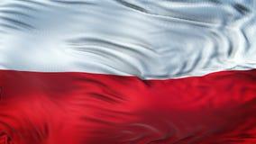 Fond de ondulation réaliste de drapeau de la POLOGNE Image stock