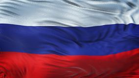 Fond de ondulation réaliste de drapeau de la RUSSIE Images stock