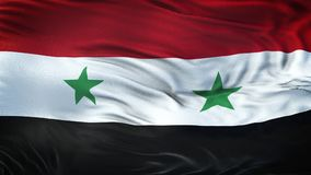 Fond de ondulation réaliste de drapeau de la SYRIE Images libres de droits