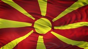 Fond de ondulation réaliste de drapeau de MACÉDOINE Photos stock