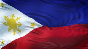 Fond de ondulation réaliste de drapeau de PHILIPPINES Photo libre de droits