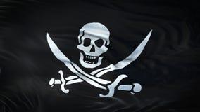 Fond de ondulation réaliste de drapeau de PIRATE Photo libre de droits