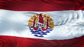 Fond de ondulation réaliste de drapeau de POLYNÉSIE FRANÇAISE Photo libre de droits