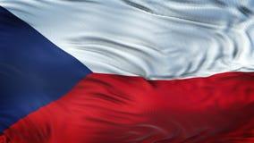 Fond de ondulation réaliste de drapeau de RÉPUBLIQUE TCHÈQUE Photographie stock libre de droits