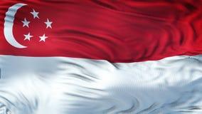 Fond de ondulation réaliste de drapeau de SINGAPOUR Photo libre de droits