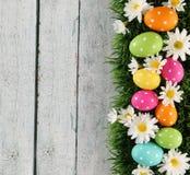 Fond de Pâques avec l'herbe Photos libres de droits