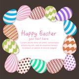 Fond de Pâques avec l'oeuf accrochant coloré illustration de vecteur