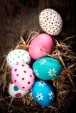 Fond de Pâques avec les oeufs et le copyspace Joyeuses Pâques ! Image libre de droits