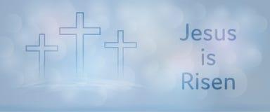 Fond de Pâques - Jésus est levé illustration stock