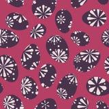 Fond de Pâques Rosette Retro Eggs Seamless Pattern de vecteur illustration stock