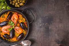 Fond de Paella Photo stock
