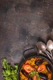 Fond de Paella Image libre de droits