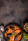 Fond de Paella Images stock