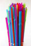 Fond de paille à boire Coloured images stock