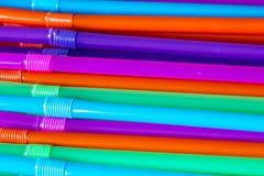 Fond de paille à boire Coloured photos stock