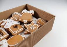 Fond de pain d'épice de Noël Photos libres de droits
