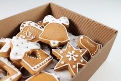 Fond de pain d'épice de Noël Photographie stock