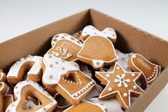 Fond de pain d'épice de Noël Photographie stock libre de droits