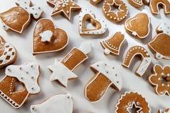 Fond de pain d'épice de Noël Image libre de droits