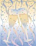 Fond de pain grillé de Champagne Illustration de Vecteur