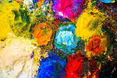 Fond de palette d'art Photo stock