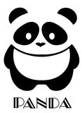 Fond de Panda Bear Isolated On White de vecteur Illustration Libre de Droits