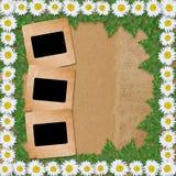 Fond de papier abstrait avec la guirlande Photos libres de droits