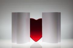 Fond de papier abstrait de symétrie avec le coeur Photos libres de droits