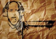 Fond de papier avec le DJ Image libre de droits