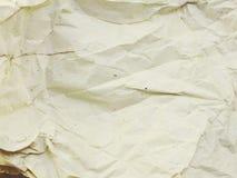 Fond de papier chiffonné par blanc de papier de texture Image stock