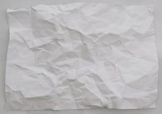 Fond de papier chiffonné sur le fond blanc Photographie stock libre de droits