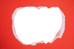Fond de papier déchiré Papier déchiré sur le fond blanc d'isolement Images libres de droits