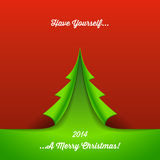 Fond de papier d'arbre de Noël Photos stock