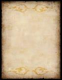 Fond de papier de cru avec des configurations Image libre de droits