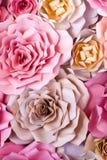 Fond de papier de fleurs colorées Photographie stock libre de droits