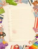 Fond de papier de jouets Photographie stock libre de droits