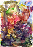 Fond de papier de palette d'aquarelle image stock