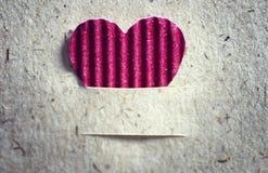 Fond de papier de texture de coeur de forme Images stock