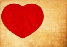 Fond de papier de valentine de livre Image libre de droits