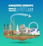 Fond de papier global de voyage et de voyage de point de repère de Frances Vect illustration de vecteur