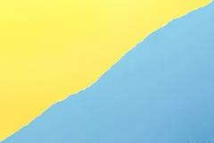 Fond de papier Jaune et bleu photo stock