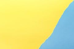 Fond de papier Jaune et bleu photos libres de droits
