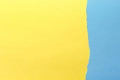 Fond de papier Jaune et bleu images stock