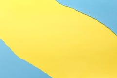 Fond de papier Jaune et bleu images libres de droits