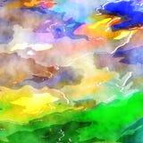 Fond de papier de lavage d'aquarelle Images libres de droits
