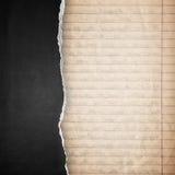 Fond de papier noir de déchirure Photographie stock