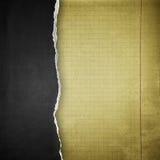 Fond de papier noir de déchirure Photos stock