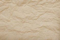 Fond de papier réutilisé par texture de papier chiffonné Photographie stock